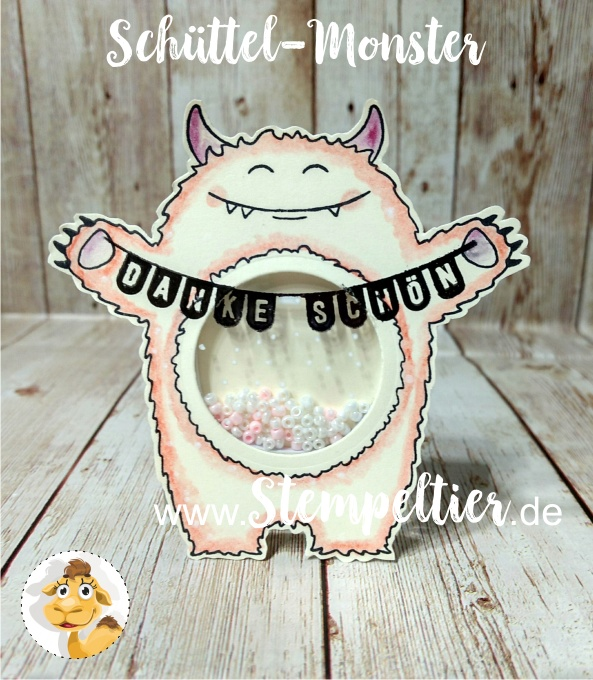 stampin up schüttel monster yummy tummy bannerduo danke