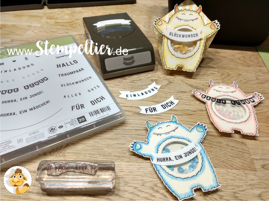stampin up schüttel monster yummy tummy bannerduo