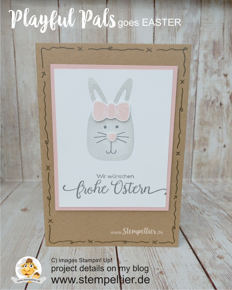 playful pals easterbunny stempeltier stampin up