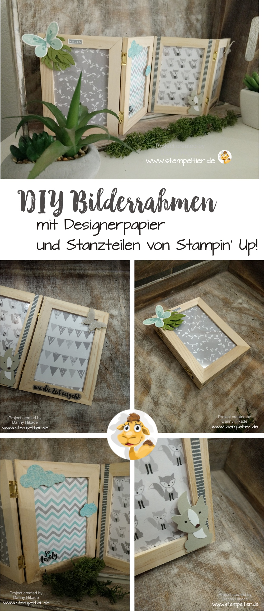 stampin up blog stempelnd durchs jahr april 3D home deco frame bilderrahmen diy