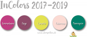 stampin up incolors neu 2017 2019 feige limette meeresgrün sommerbeere puderrosa stempeltier