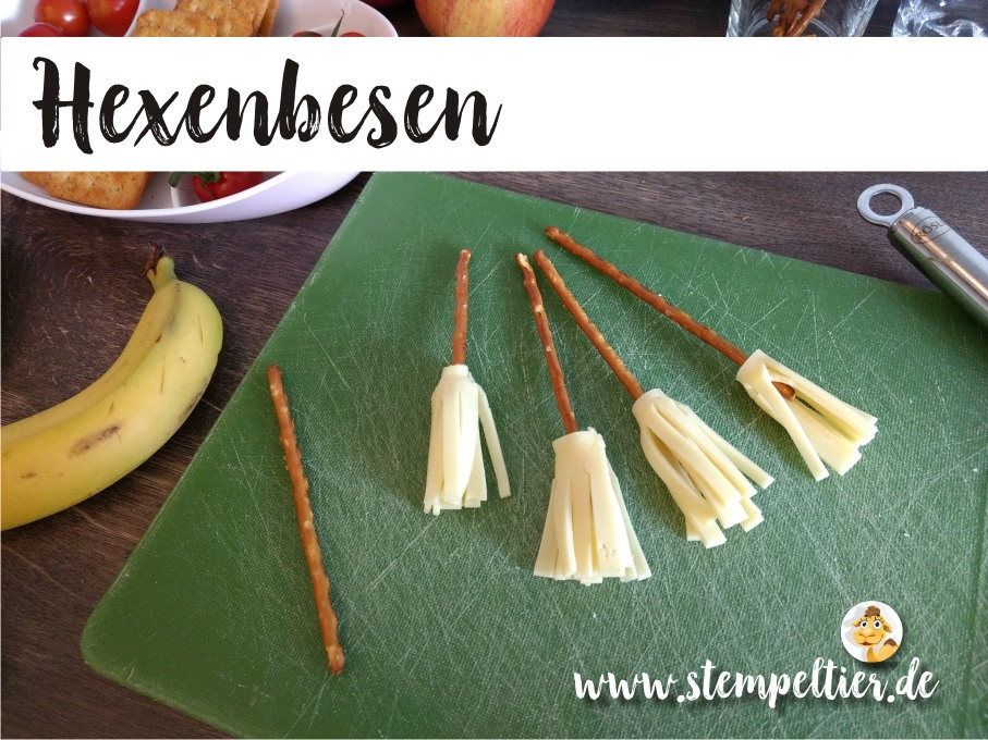 hexenbesen stampin up hexengeburtstag kindergeburtstag deko mottoparty witch birthday cheese brooms stempeltier