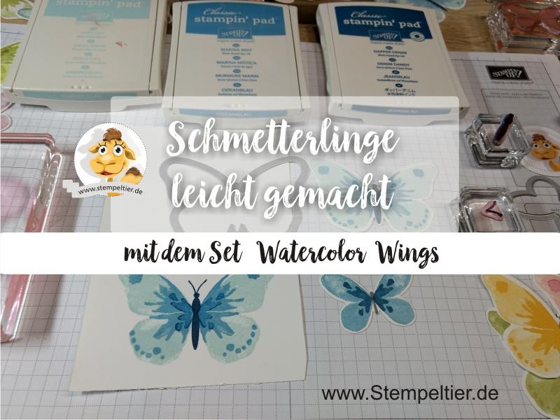 stampin up anleitung schmetterlinge video watercolor wings stempeltier butterflies