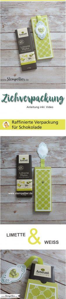stampin up blog anleitung schoko ziehverpackung schokolift alnatura tafel schokolade limette incolor 2017 2019 stempeltier dimensions