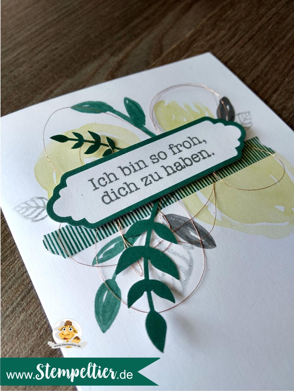stampin up grüße wie gemalt soft sayings kartenset card kit neu 2017 2018 incolors limette tranquil tide