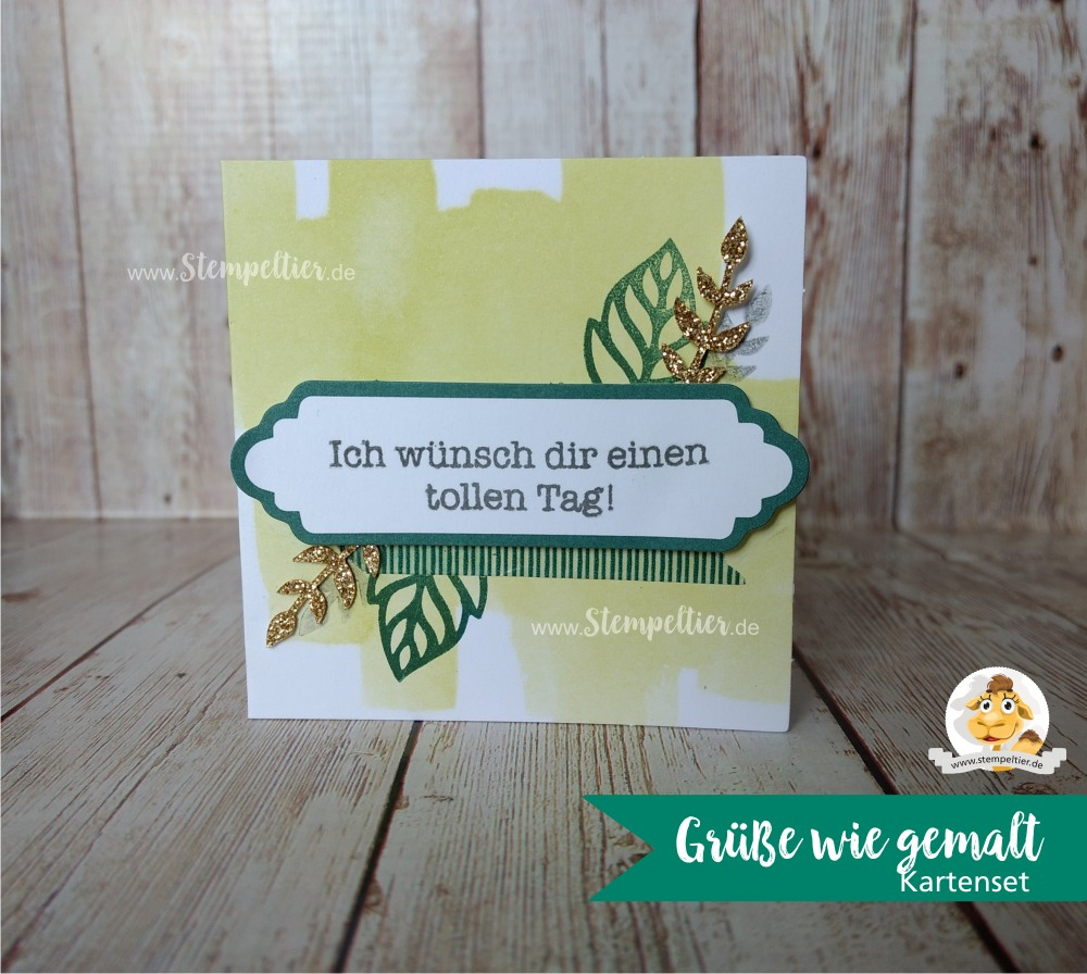 stampin up grüße wie gemalt soft sayings kartenset card kit neu 2017 2018 incolors limette tranquil tide2