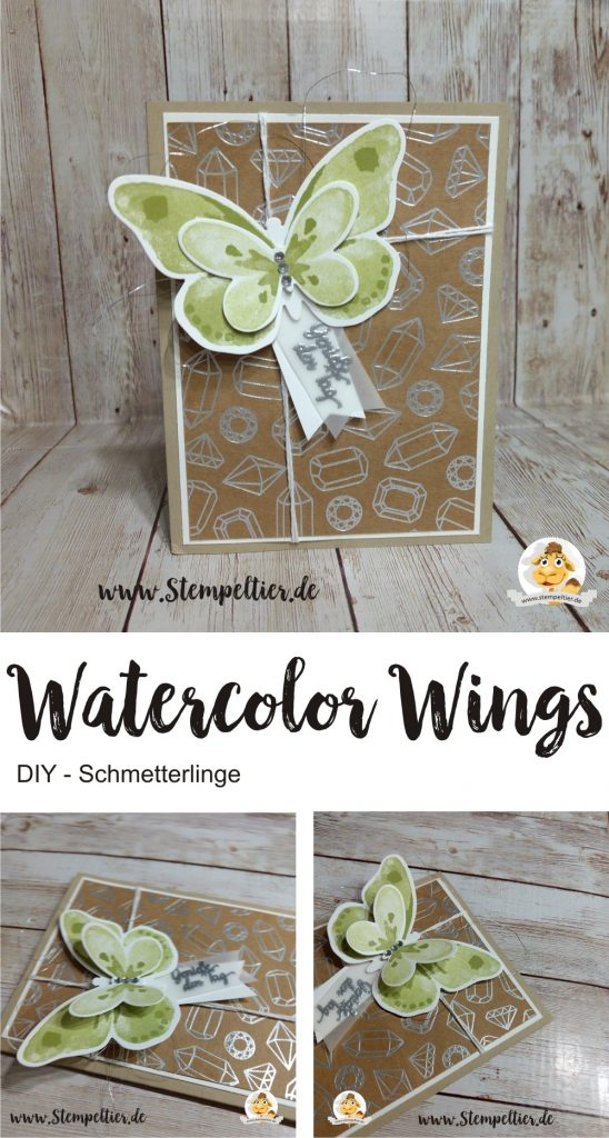 stampin up watercolor wings schmetterlinge stempeltier butterfly framelelits diy karte