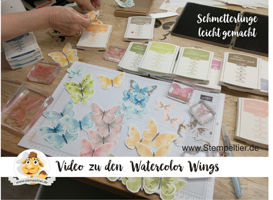 stampin up watercolor wings video schmetterlinge anleitung how to stempeltier