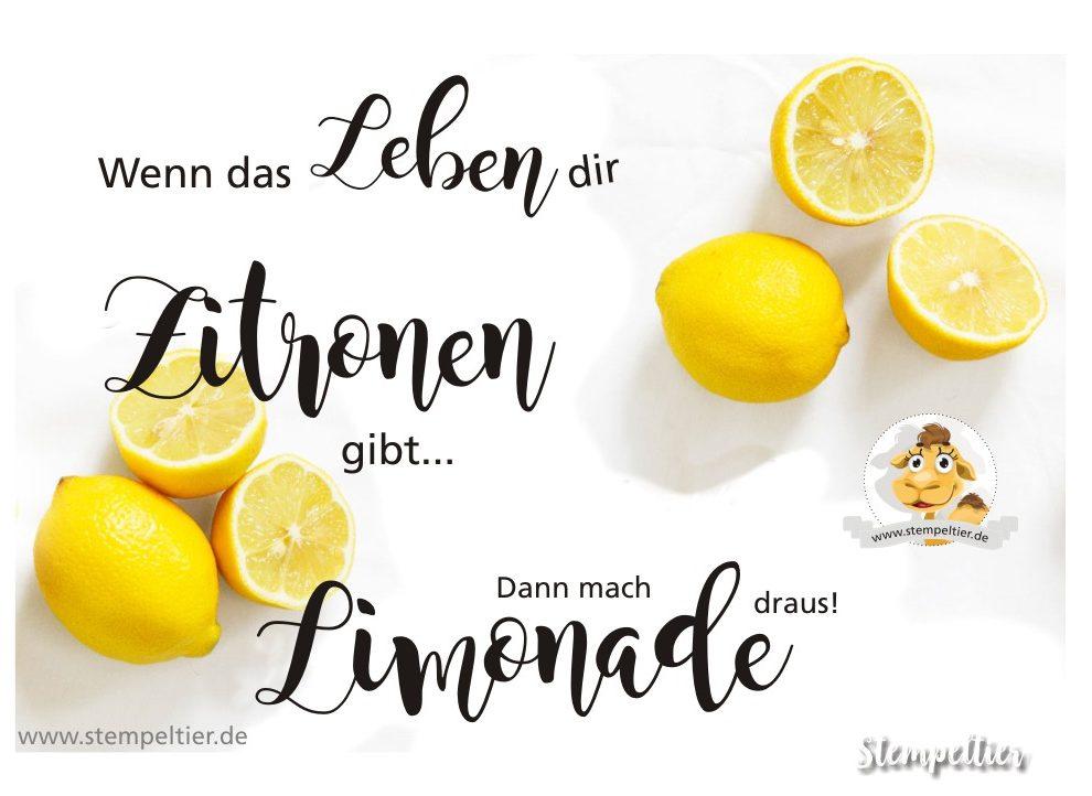 Wenn das Leben dir Zitronen gibt - Stempeltier