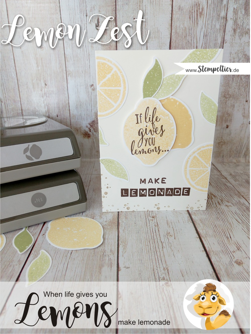 sstampin up lemon zest bundle punch stamps stempeltier make lemonade