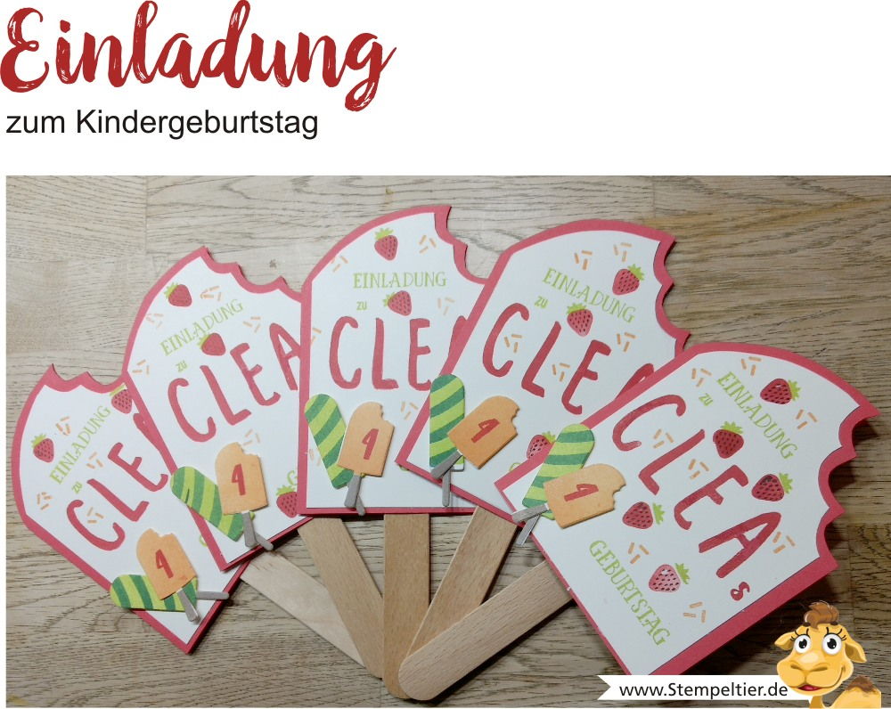 stampin up blog einladung kindergeburtstag 4 eis eis baby icecream stempeltier birthday invitation frozen treats