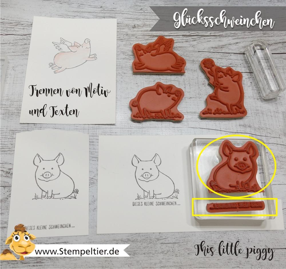 stampin up blog glücksschweinchen this little piggy stempel zerschneiden trennen anleitung tutorial stempeltier video 1