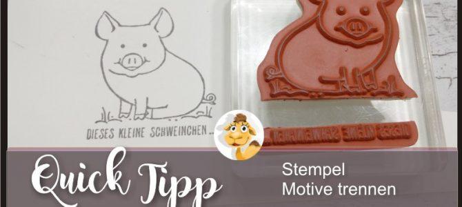Quick Tipp – Glücksschweinchen Motive trennen