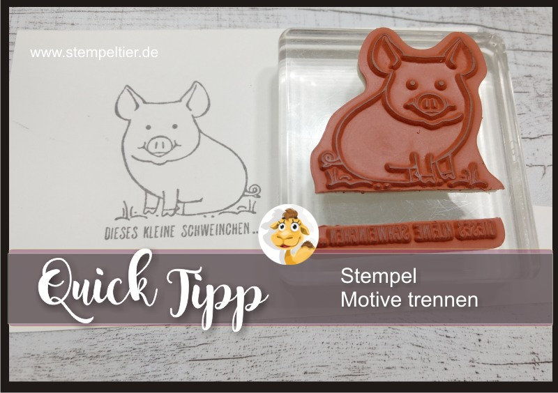 stampin up blog glücksschweinchen this little piggy stempel zerschneiden trennen anleitung tutorial stempeltier video