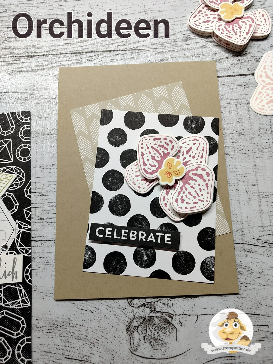stampin up blog orchid builder orchideenzweige orchidee memories and more kärtchen stempeltier
