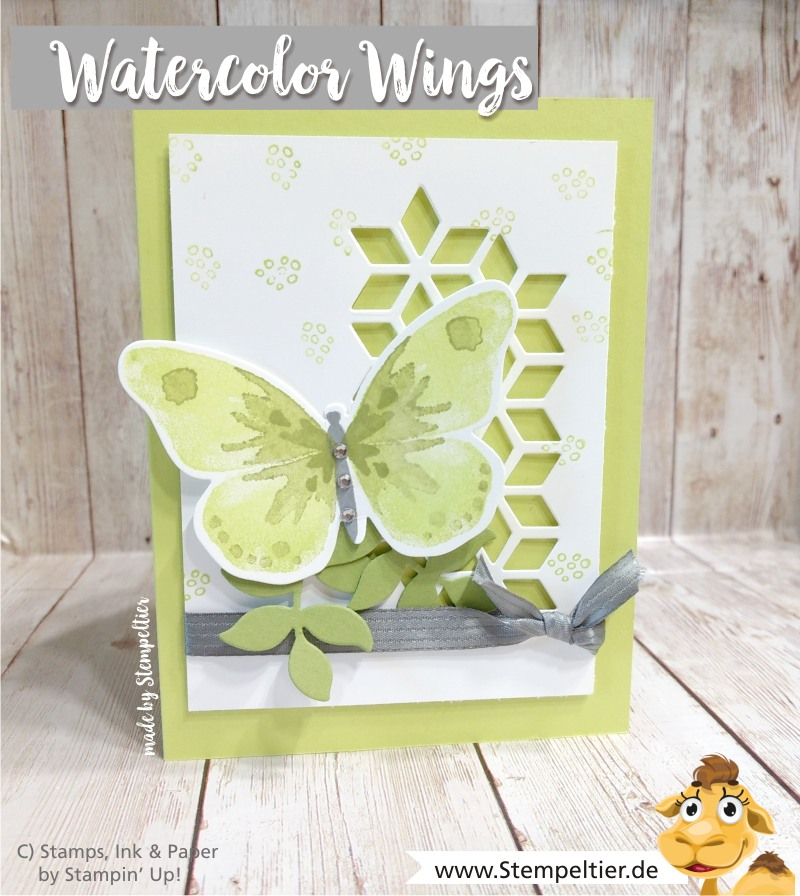 stampin up blog watercolor wings schmetterling limette eclectic layers thinlits stempeltier butterflies