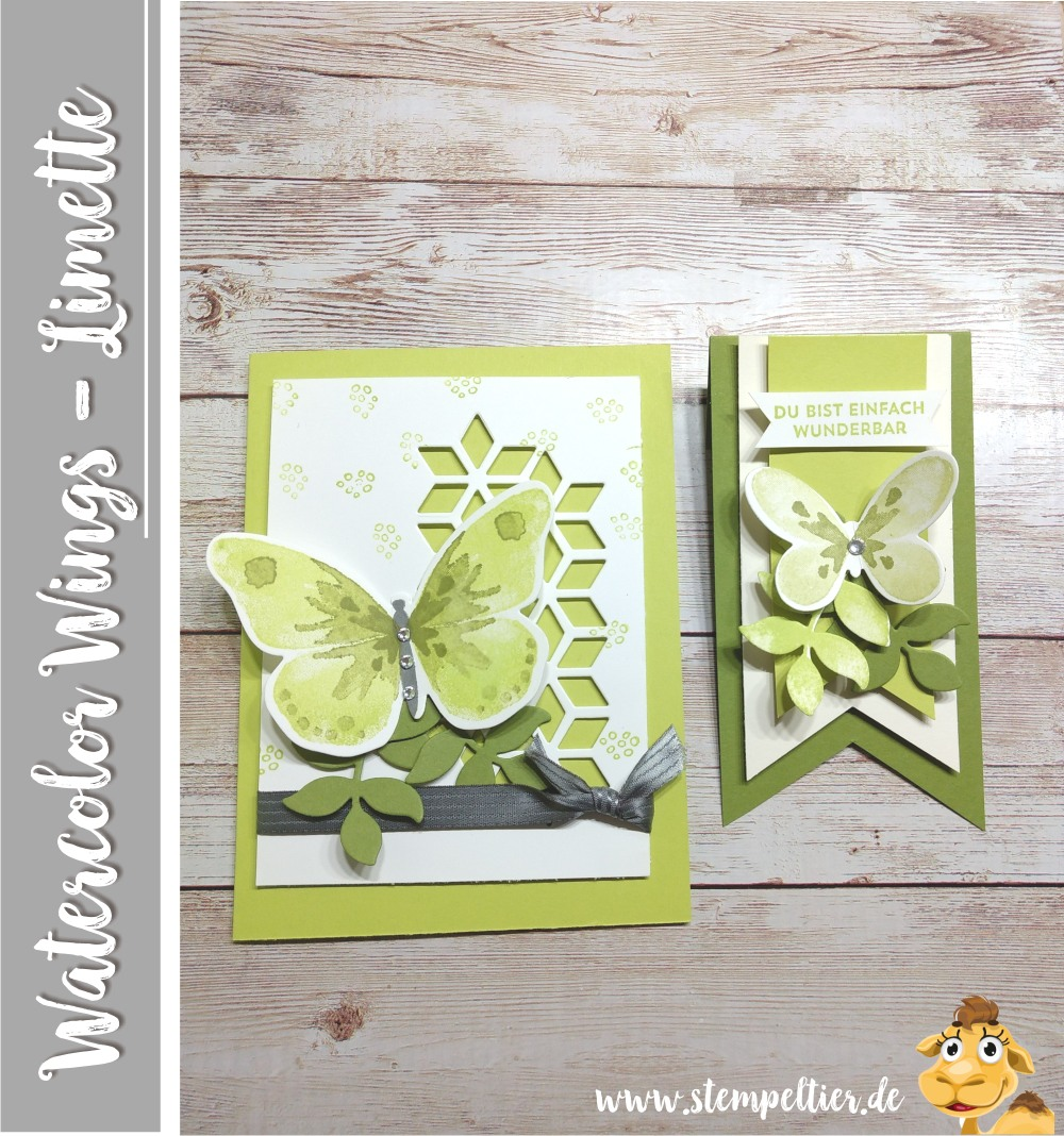stampin up blog watercolor wings schmetterling limette eclectic layers thinlits stempeltier butterfly