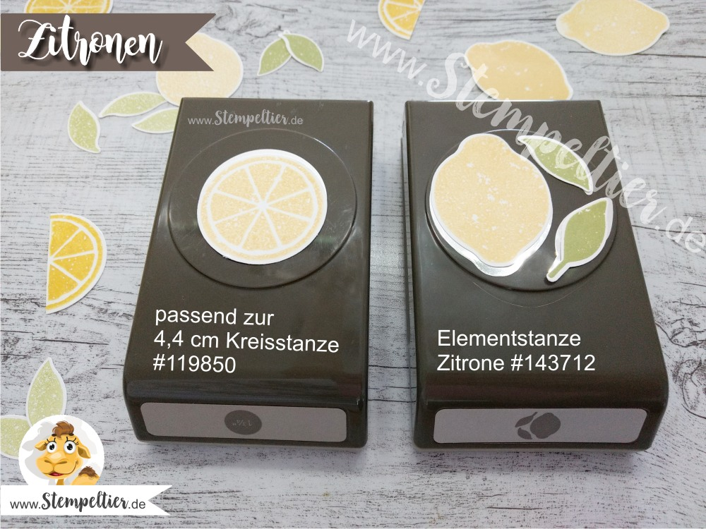 stampin up lemon zest zitrone handstanze stanze lime limonade lemonade punch stempeltier