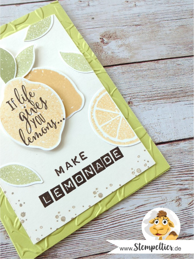 stampin up lemon zest zitrone handstanze stanze lime limonade make lemonade punch stempeltier