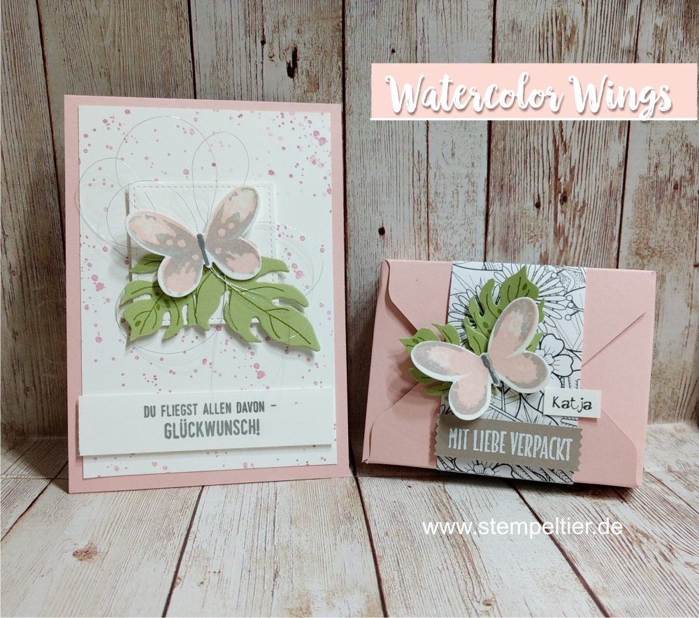 stampin up watercolor wings schmetterling thinlit botanical blooms butterfly team stempeltier