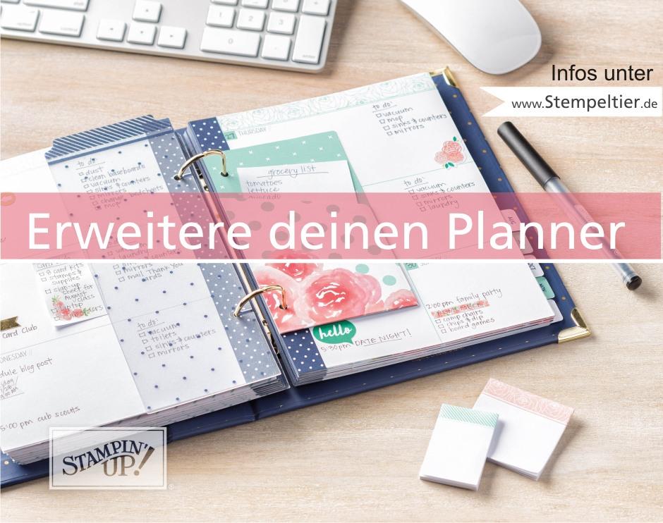 stampin up blog planner kit set tolle tage erweitern einleger selbst machen karteireiter stanze tab punch diy stempeltier plannerliebe