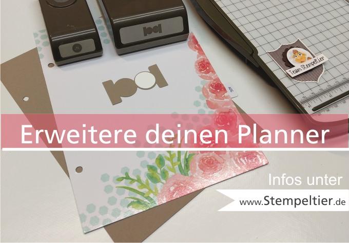 stampin up blog planner kit set tolle tage erweitern einleger selbst machen karteireiter stanze tab punch diy stempeltier
