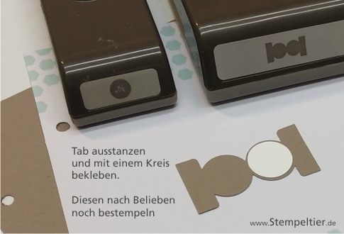 stampin up planner planer einlegeblätter circle tab punch karteireiter index