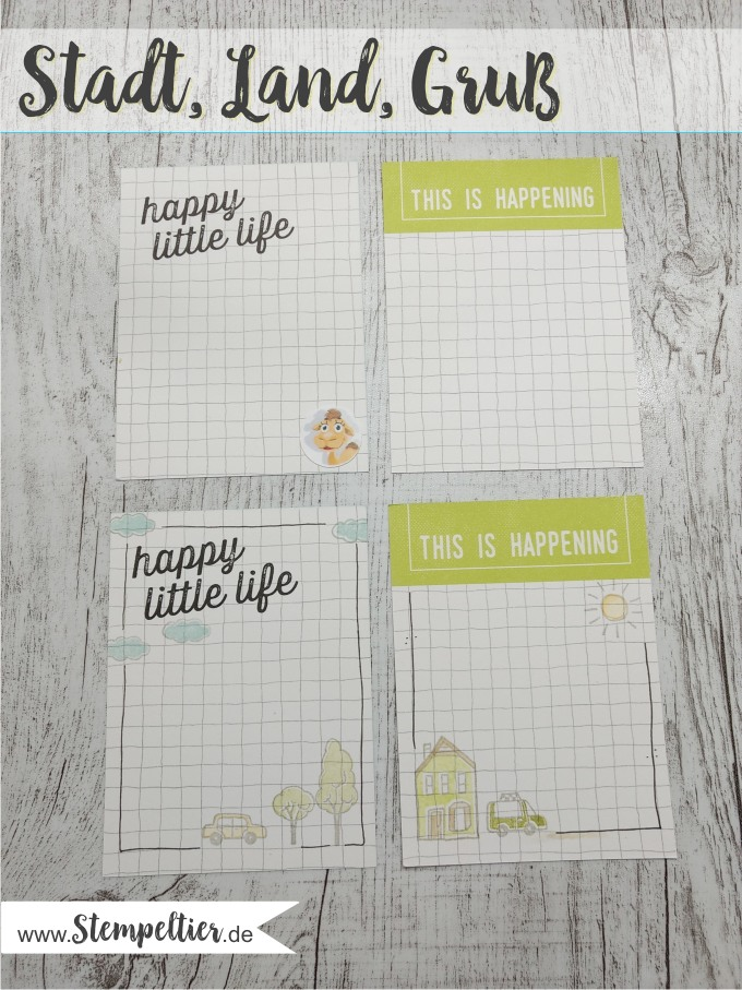 stampin up stadt land gruß auto planner journaling hostess set 2 step