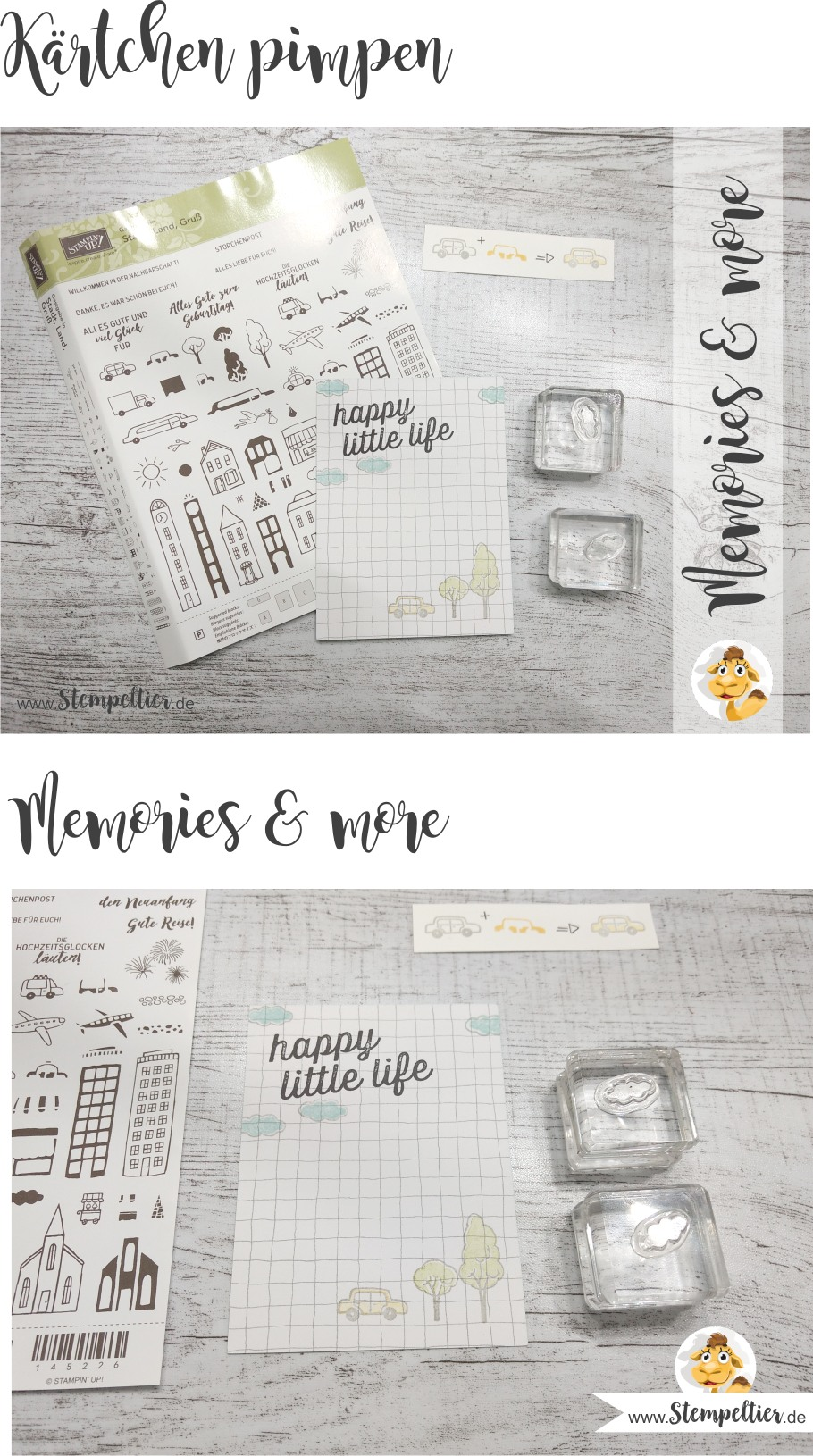 stampin up stadt land gruß auto planner journaling hostess set stempeltier project life memories and more scrapbook