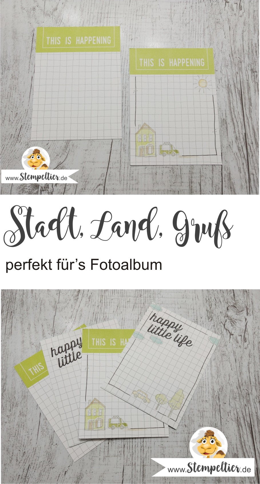 stampin up stadt land gruß auto planner journaling hostess set stempeltier