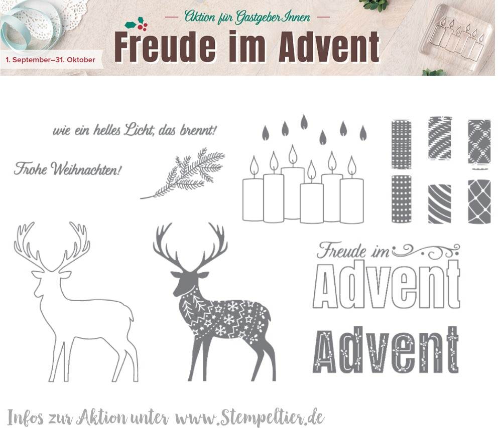 freude im advent exklusiv gastgeberin set september october 2017 stampin up stempeltier merry