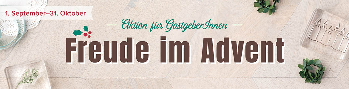 freude im advent stampin up gastgeberin aktion september october 2017