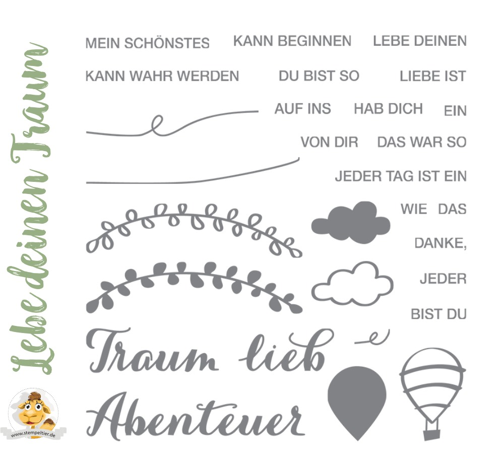 stampin up lebe deinen traum dare to dream Réalise Ton Rêve hostess gastgeber set