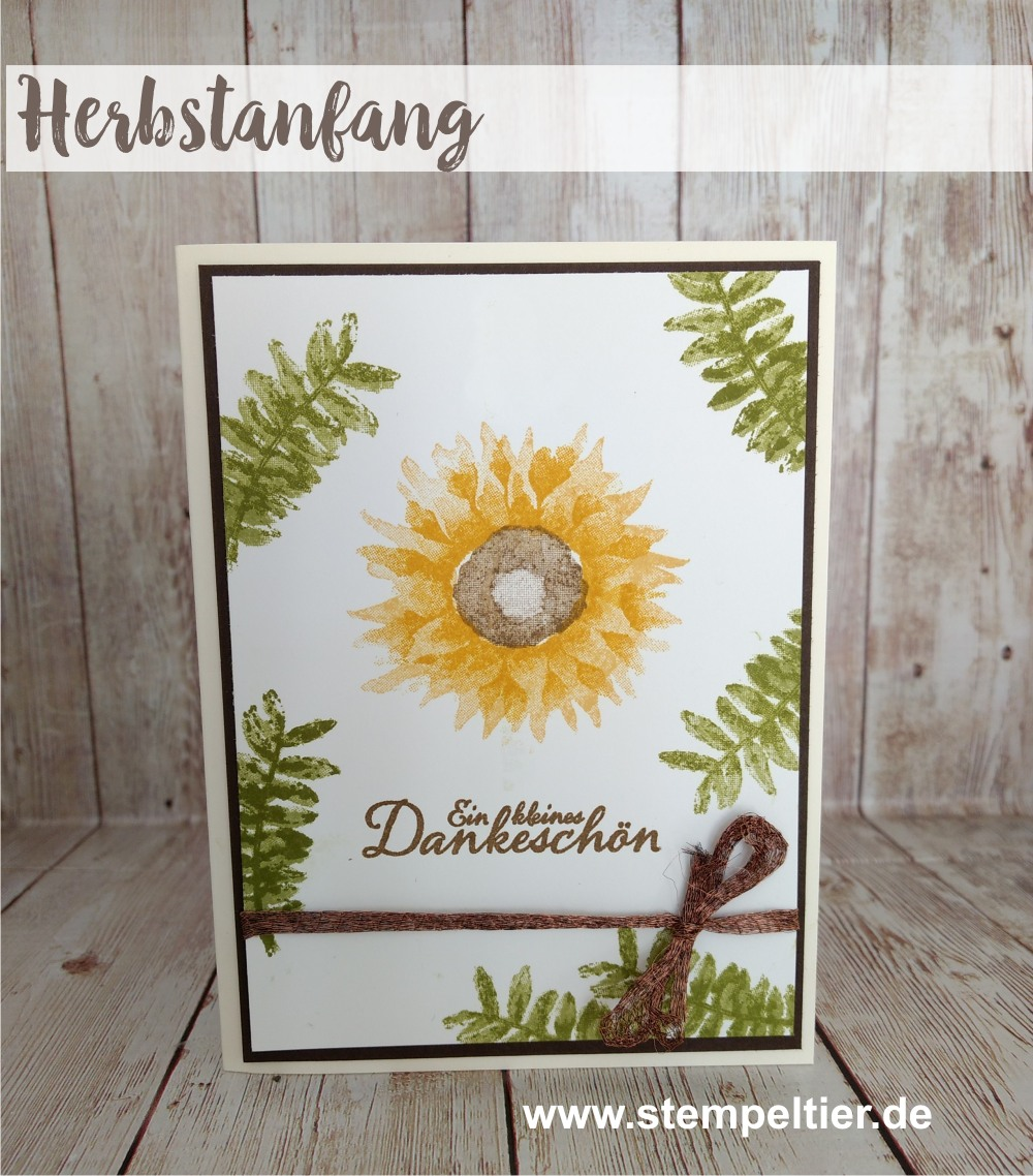 stampin up vorschau herbstanfang sonnenblumen 2step winterkatalog 2017 sunflower autumn preview stempeltier 1