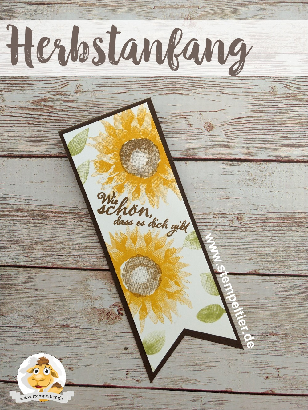 stampin up vorschau herbstanfang sonnenblumen 2step winterkatalog 2017 sunflower autumn preview stempeltier