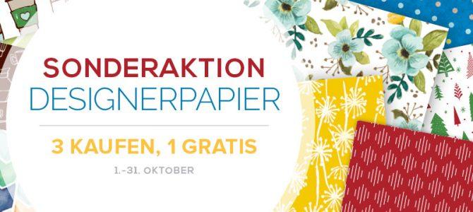 Gratis Designerpapier – Aktion im Oktober