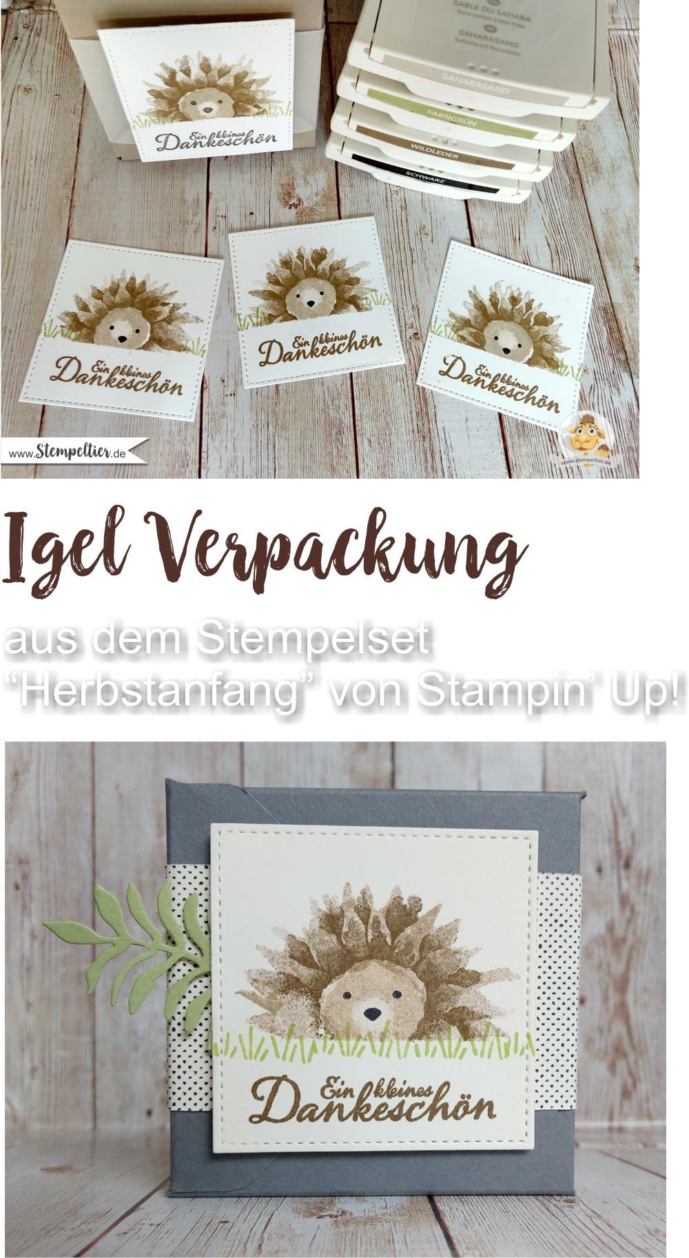 stampin up blog igel herbstanfang video anleitung hedgehog sunflower sonnenblume stempeltier herbst