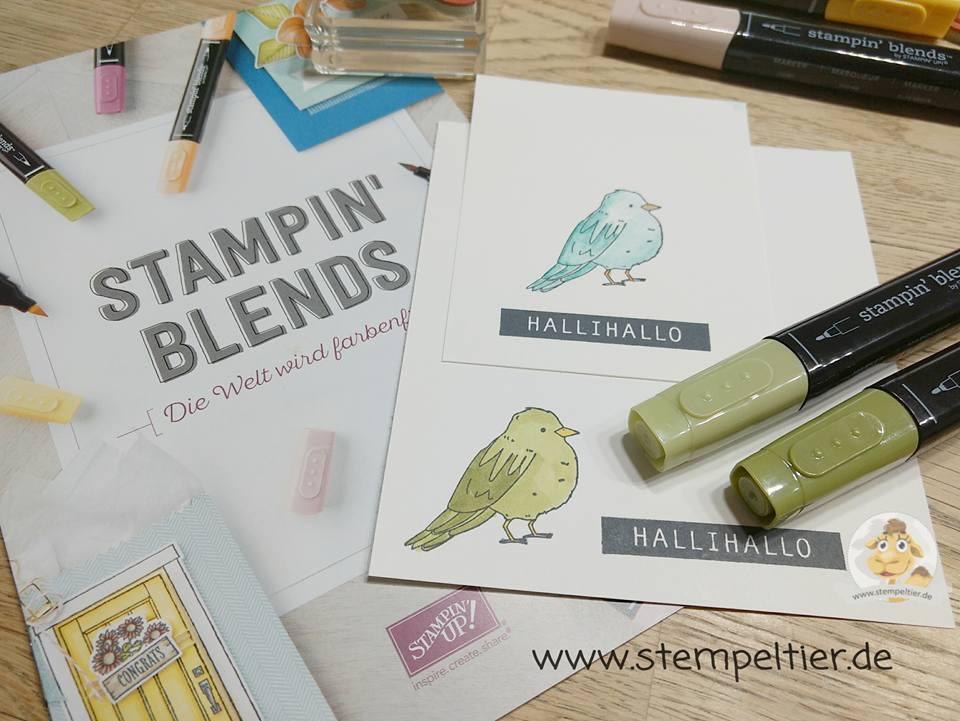 stampin up stampin blends bestellen kaufen ausmalen colorieren tasche hallihallo