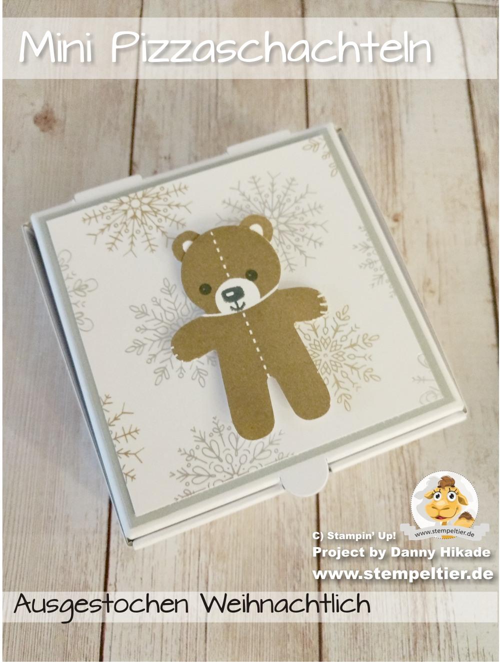 stampin up blog DSP year of cheer designerpapier pizza schachtel karton teddy ausgestochen weihnachtlich stempeltier