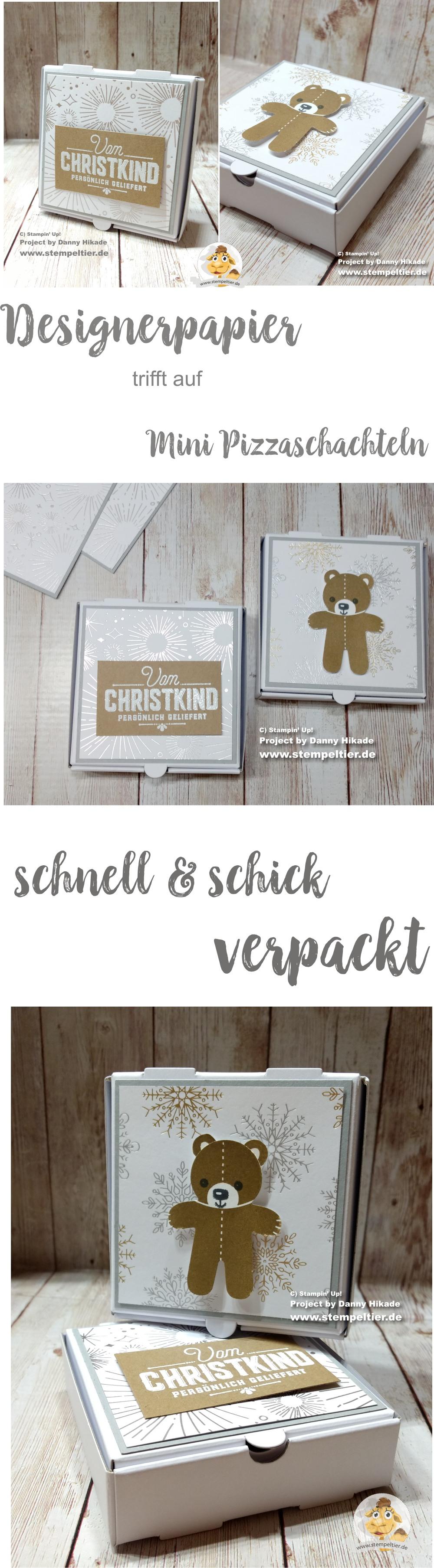 stampin up blog designerpapier weihnachten verpackung pizzaschachtel box winterfreuden DIY stempeltier