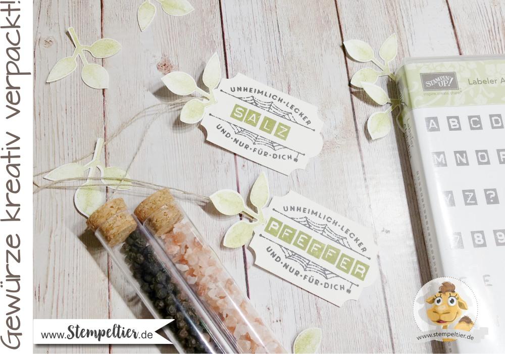 stampin up diy süßigkeiten röhrchen tubes reagenzglas verpackung salz pfeffer etikett gewürze tag