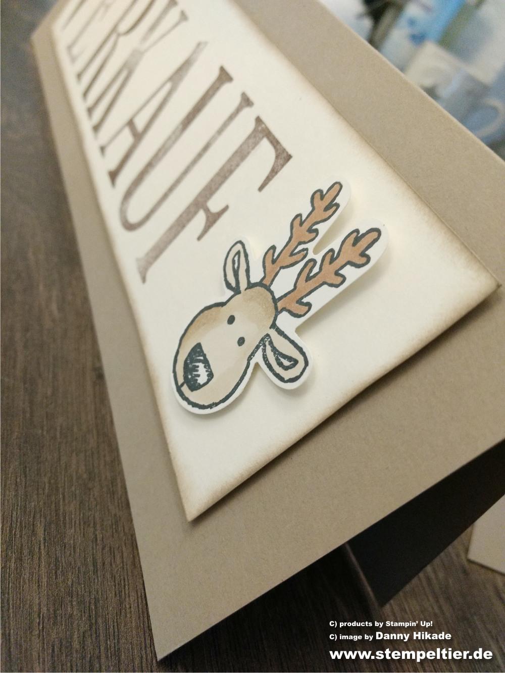 stampin up letters for you aufsteller schild deko