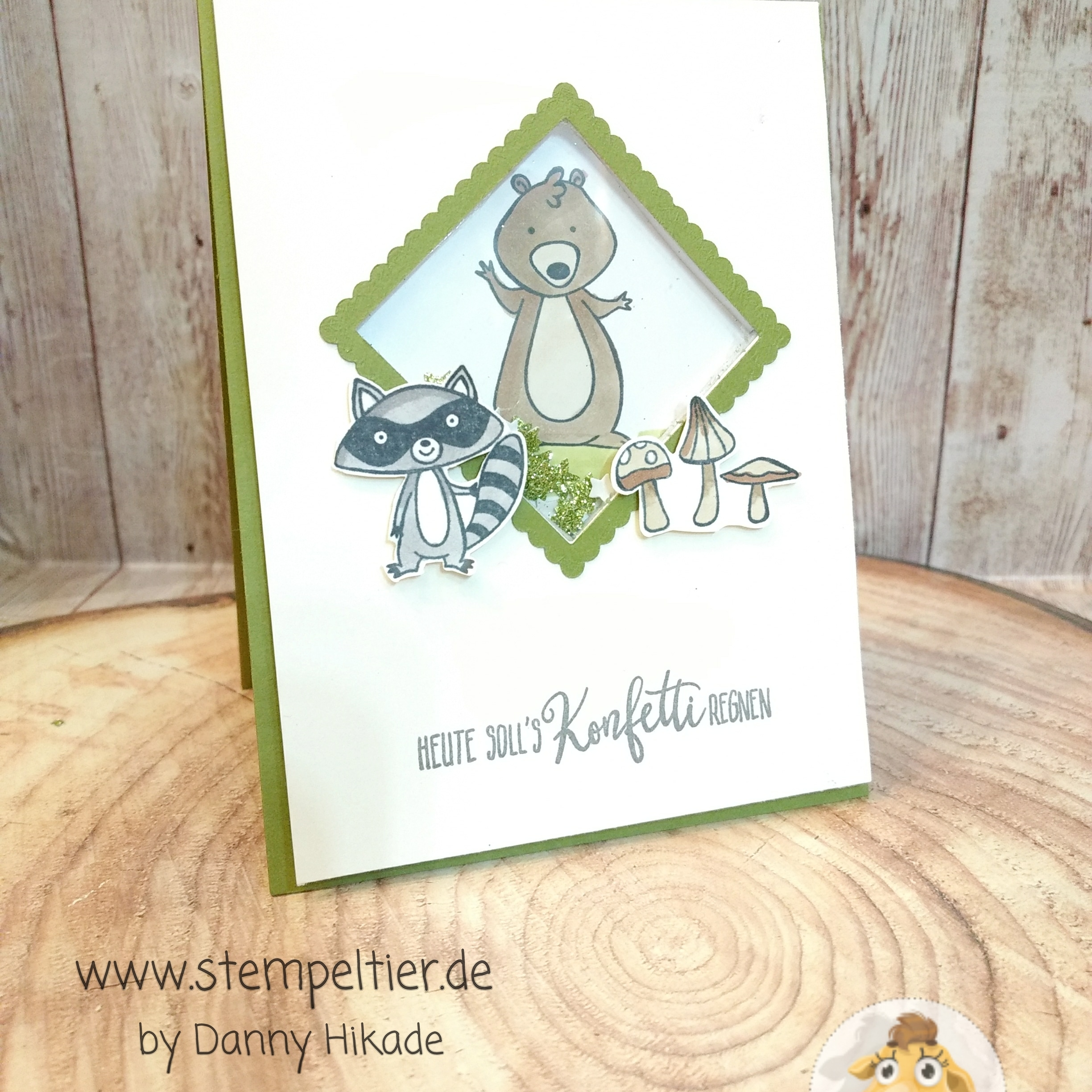Stampin' Up Schüttelkarte Shaker Card WE Must celebrate