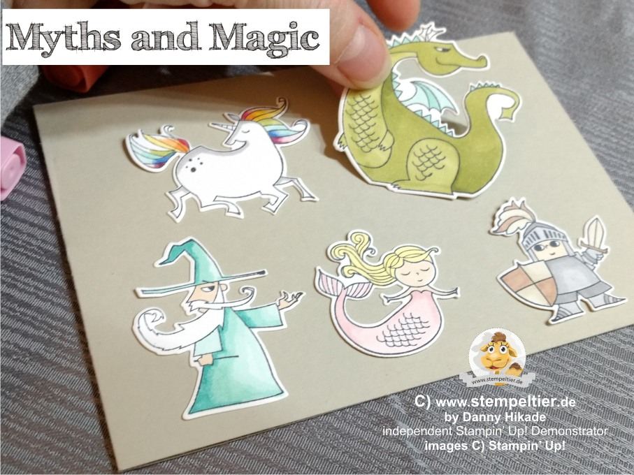 stampin up myths and magic suite zauberhafter Tag märchen einhorn meerjungfrau ritter drache
