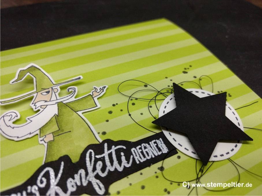 stampin up myths and magic suite zauberhafter Tag märchen konfetti regnen
