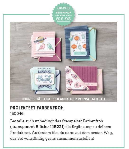 stampin up sab sale-a-bration 2018 projektset farbenfroh blends abgestempelt