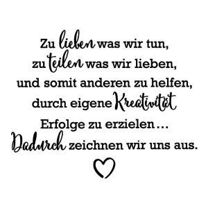 leitspruch stampin up wir teilen was wir lieben statement of the heart