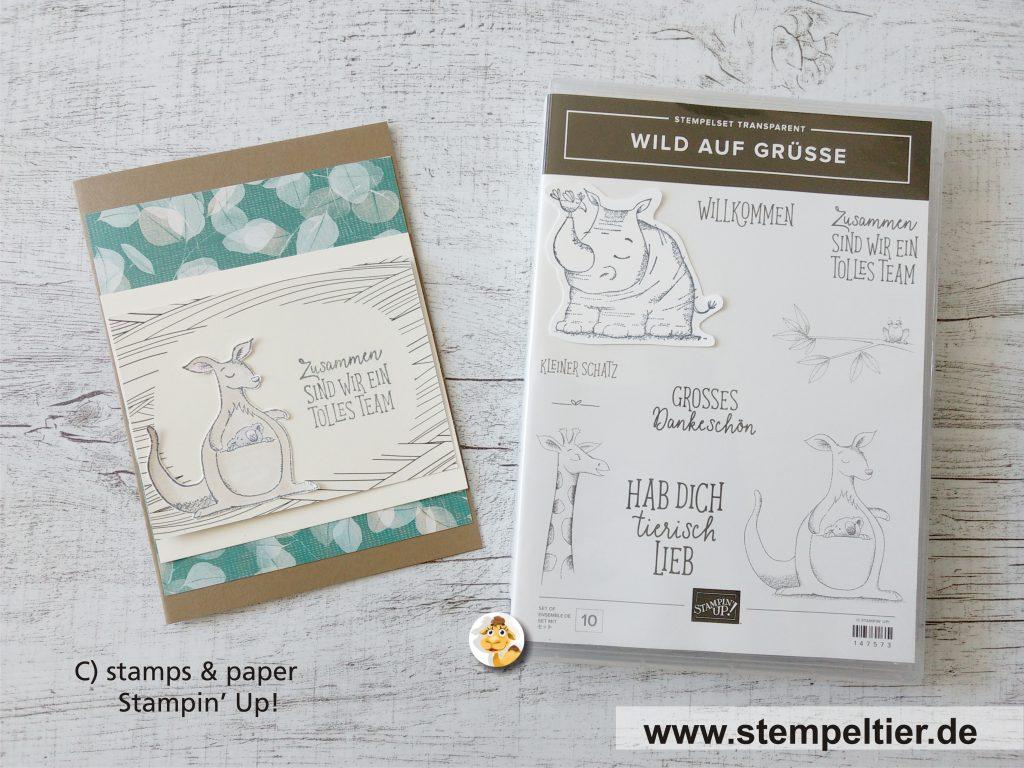 stampin up preview vorschau wilde grüße känguruh onstage stempeltier