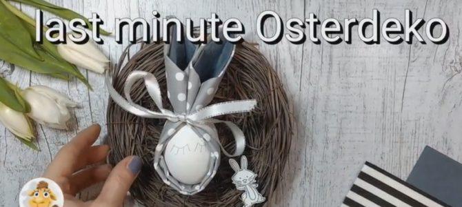schnelle Last-Minute Osterdeko -Servietten falten
