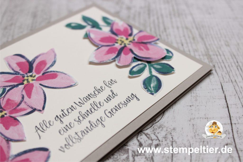 Stampin Up garten genesungswünsche impressionen garden impressions stempeltier gute besserung